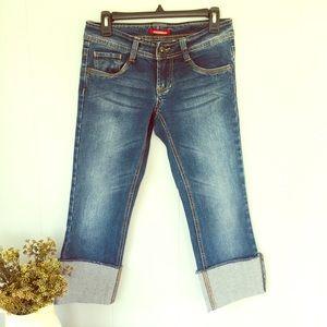 Cute, cuffed, cropped jeans!!